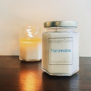 Marshmallow soy candle